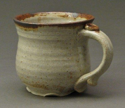 Unique Pottery Coffee Mugs | Stoneware Pottery Mug With Wood Ash Nuka Glaze And Iron Accents That ...