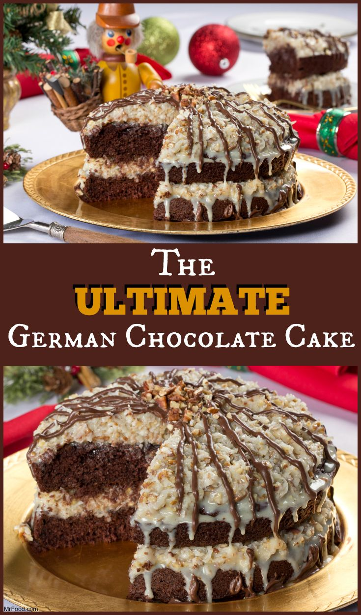 If you really want to make their mouth's drop on Christmas Day, bring out The Ultimate German Chocolate Cake. It's got all the traditional German chocolate cake flavors, but is much easier to make!