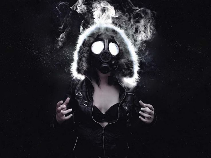 Flash Light Inside Gas Mask Bra Explosion Creative By Colton Onushko Coltography