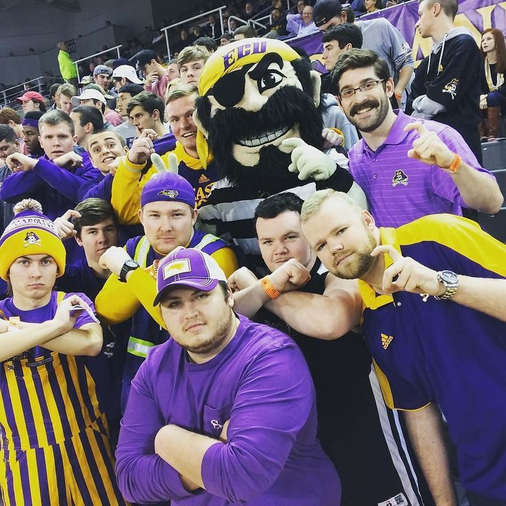 #ECU's PeeDee the #Pirate hanging with the student section Thanks @peedee_ecu!  #SuperTailgate #tailgate #tailgating #win #letsgo #gameday #travel #adventure #stadium #party #sport #ESPN #jersey #sports #league #SportsNews #score #photooftheday #love #Basketball #NCAAB