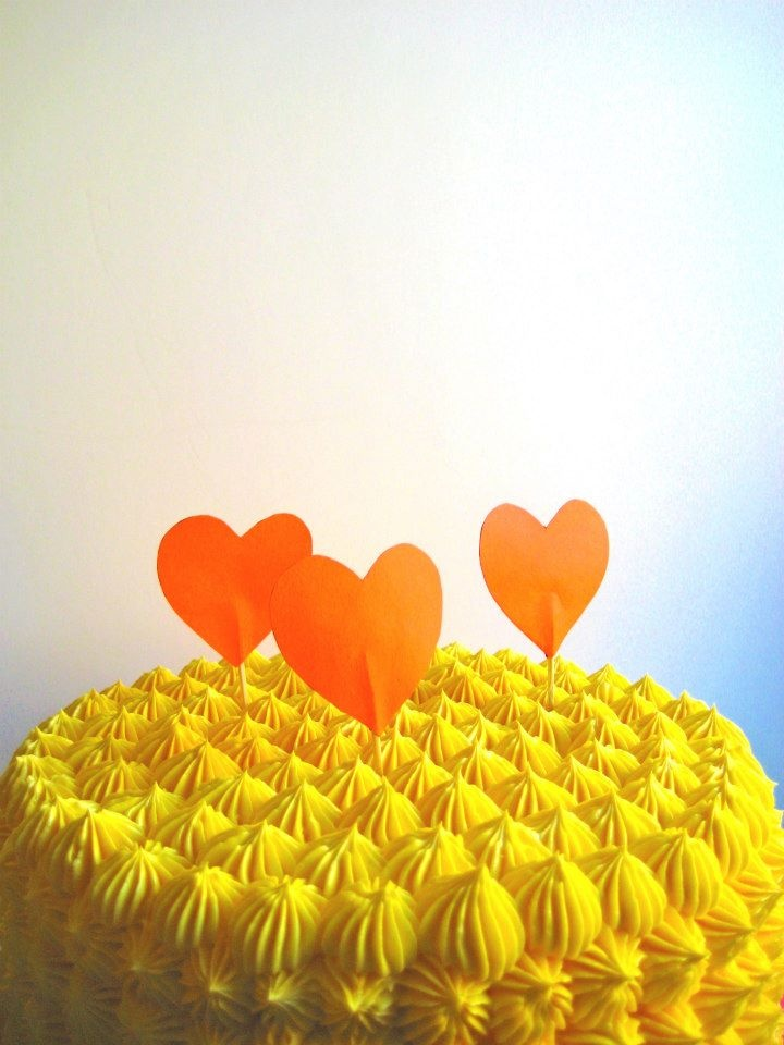 heart cupcake flags/toppers www.thechubbybunny.ca