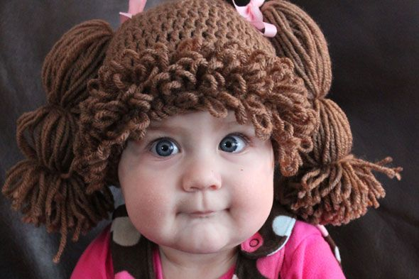 cabbage patch crochet hat | Would you put your baby in a Cabbage Patch Doll wig? - Parentdish UK