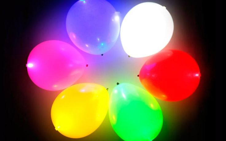 Globos con luz Led excelentes para tus eventos Puedes inflarlos con gas helio ( no incluido) Colores Sujeto a Disponibilidad
