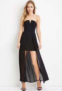 Strapless Chiffon Layered Dress, Forever 21, Kingsway Mall