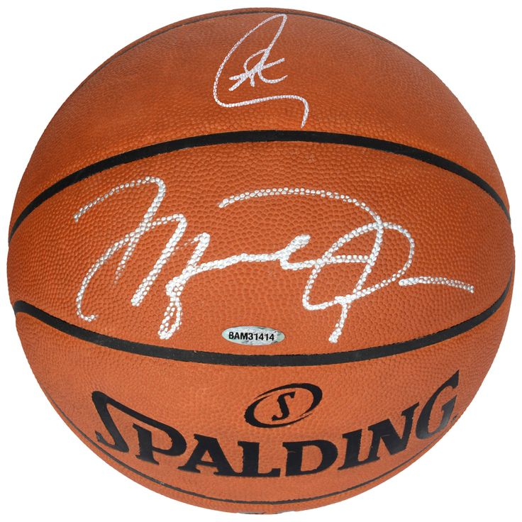 Autographed Michael Jordan, Stephen Curry Pro Leather Basketball - Upper Deck - Limited Edition of 50