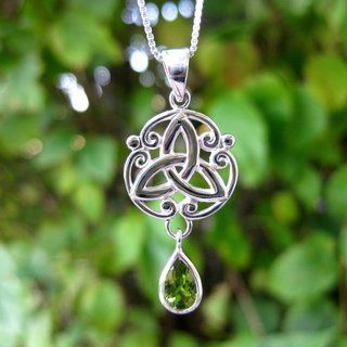 @Overstock - This sterling silver pendant features a beautiful, intricate celtic knot design. This handcrafted pendant features a single, brilliant natural cut peridot.http://www.overstock.com/Worldstock-Fair-Trade/Sterling-Silver-Pear-Cut-Natural-Peridot-Stone-Celtic-w-18-inch-Chain-Thailand/7348631/product.html?CID=214117 ILS              255.70