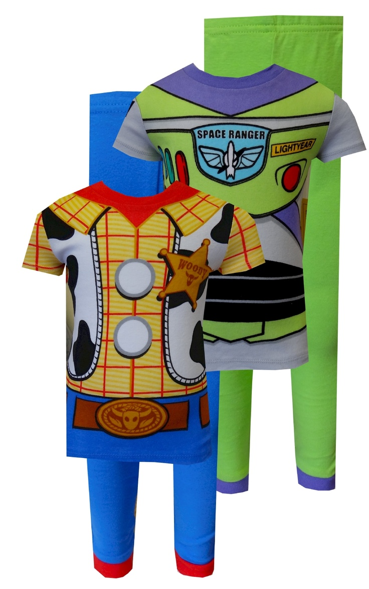 Toy Story Buzz Lightyear And Woody Combo Toddler Pajamas