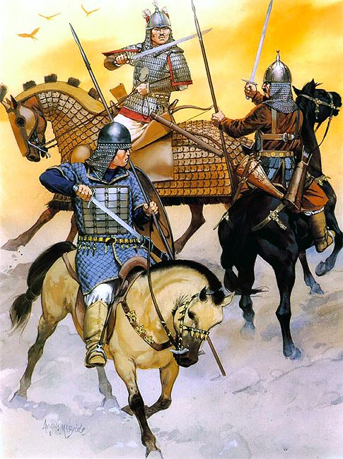 """The Khirgiz (8th - 9th): • Khirgiz warrior • Khirgiz tribesman • Kimak tribal warrior"", Angus McBride"