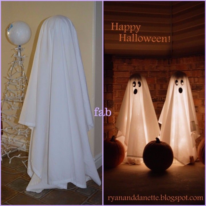 Diy Halloween Ghost Decoration Tutorials Diy Halloween Ghosts Diy Halloween Ghost Decorations Halloween Ghost Decorations