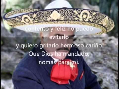 Hermoso cariño Vicente Fernandez con letra) - YouTube
