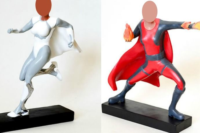 You have to check out this awesome new line of custom superhero action figures with your face! At least if you want the most awesome gift ever.