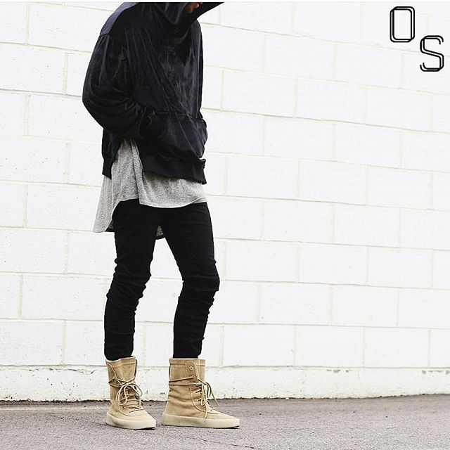 #OutfitSociety via @introfashion Presents @ryanbelanger 21 again: Enfin Leve Hoodie Fear of God Tank Forever 21 Denim Jeans and Yeezy Crepe Boots