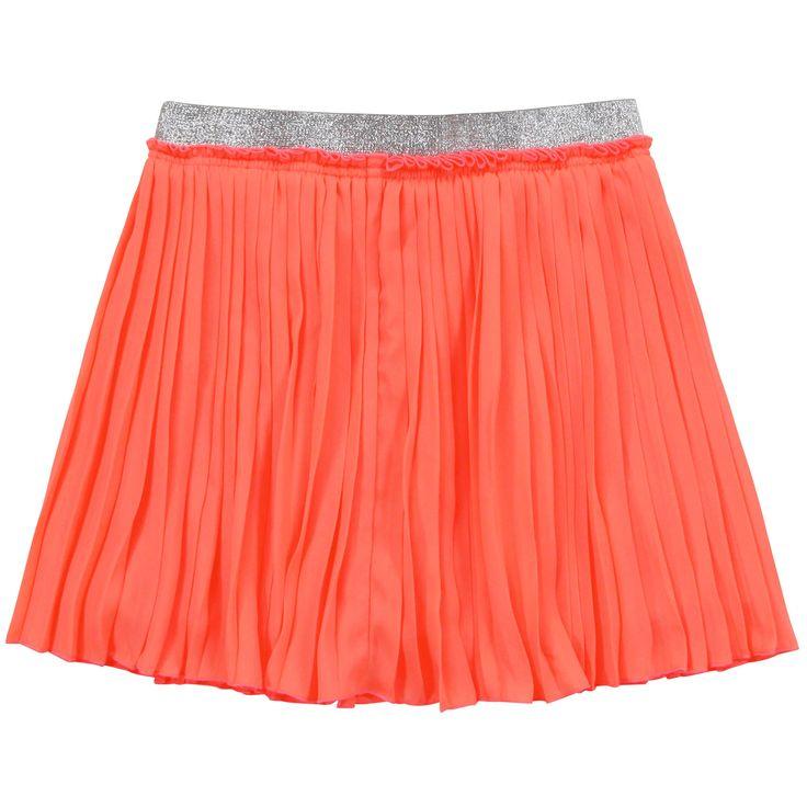 Pepe Jeans Jupe plissée orange néon (169138) Orange