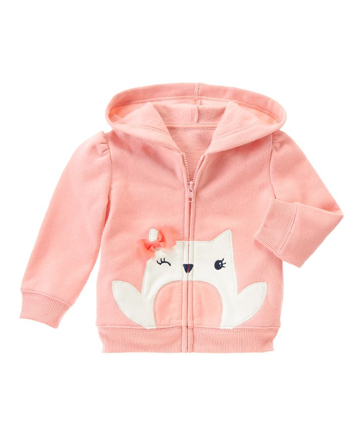 Gymboree Iced Pink Owl Zip-Up Hoodie - Infant, Toddler & Girls | zulily