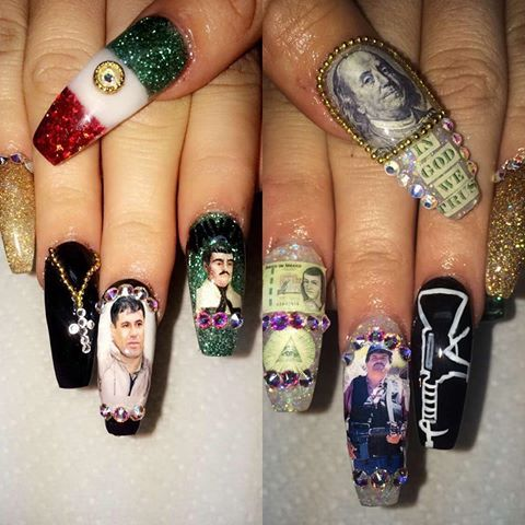 Image result for el chapo nail decals