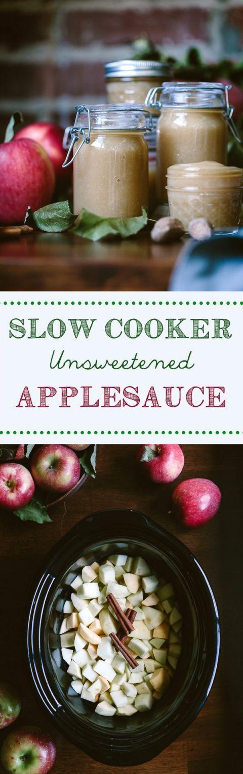 Slow Cooker Unsweetened Applesauce