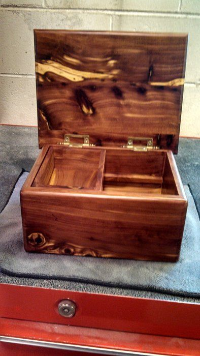 Cedar Jewelry Box; ours are prettier but these are similar