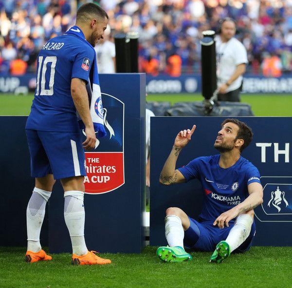 Eden Hazard Photos Photos Chelsea Vs Manchester United The Emirates Fa Cup Final Eden Hazard Cesc Fabregas Fa Cup