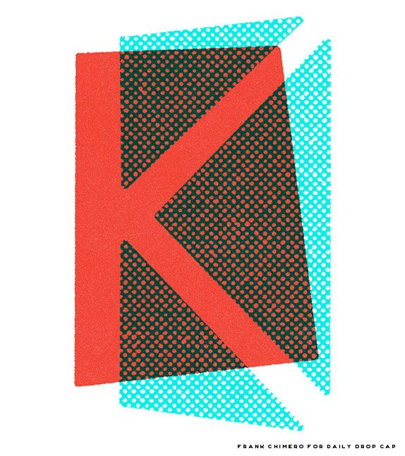 "The impressive Frank Chimero developed this 'K' and I think #JessicaHische said it best, ""His 'K' feels like it would be as at home in 1954 as it does in 2011."""