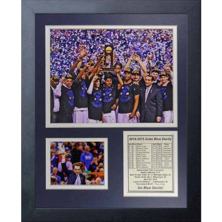 Ncaa Duke Blue Devils 2015 Basketball National Champions Legends Never Die Celebration Framed Photo Collage, 11 inch x 14 inch, Black