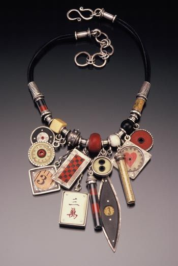 FOUND OBJECTS JEWELRY ... I knew I saved those odds and ends for a reason! Can't wait to try and make one of these.