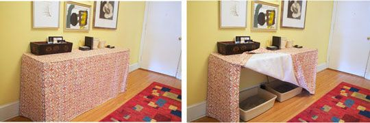 Simple way to hide kitty box