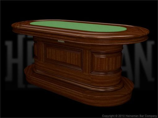 custom poker tables   Hand Crafted Solid Wood Custom Poker Table by Heineman Bar Company   CustomMade.com