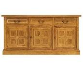 Malabar sideboard, solid mango with marble inlay