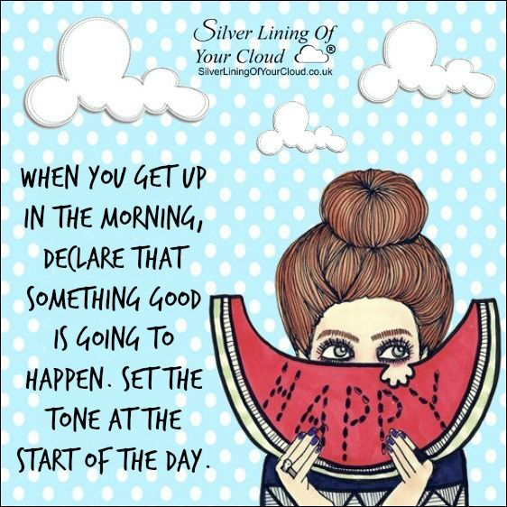When you get up in the morning, declare that something good is going to happen. Set the tone at the start of the day. ~Joel Osteen ..._More fantastic quotes on: https://www.facebook.com/SilverLiningOfYourCloud  _Follow my Quote Blog on: http://silverliningofyourcloud.wordpress.com/