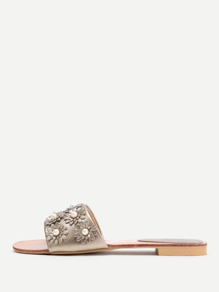 Shop Faux Pearl Decorated PU Flat Sandals online. SheIn offers Faux Pearl Decorated PU Flat Sandals & more to fit your fashionable needs.