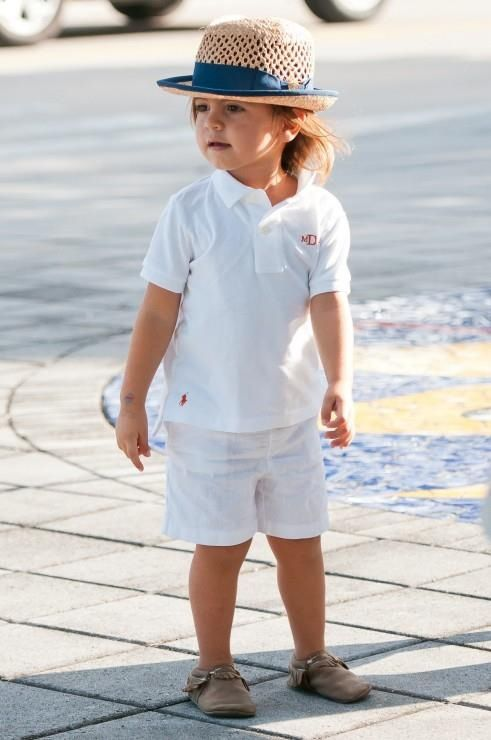 Mason Disick, the most adorable child ever. Notice that his polo shirt is monogrammed. :O