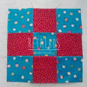 """O que é o """"Nine Patch"""" / #patchwork #ninepatch"""