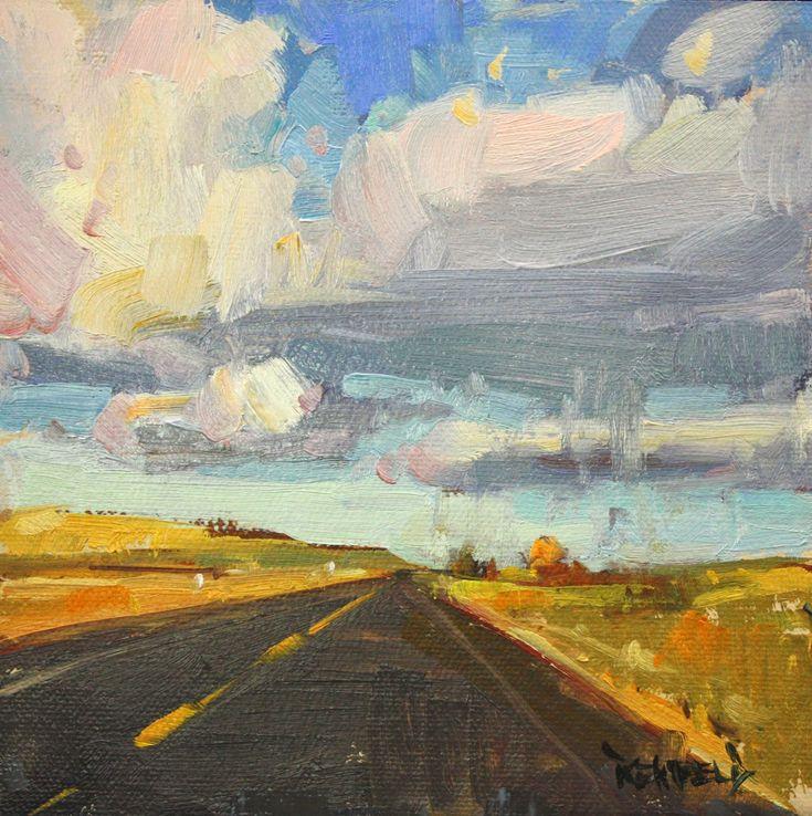 cathleen rehfeld • Daily Painting: Western Skies #landscape #horizon #sky