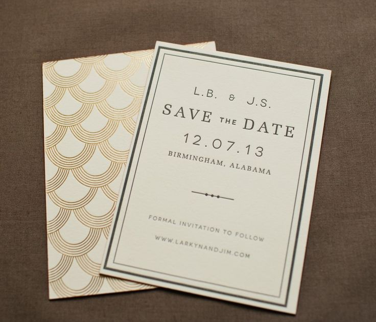 Mariee Ami Paper: Art Deco Inspired Save the Date