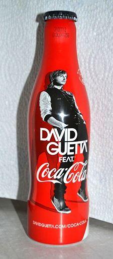 2012 David Gueta aluminun bottle Coca-Cola France