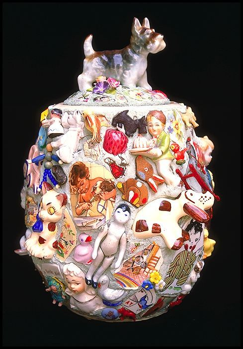 Wow! That's an inspiration. Childhood Memories by Lynn Mattson.  Beautiful pique assiette.