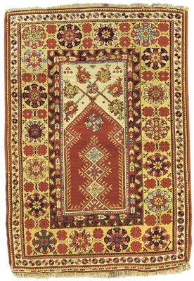 antique Melas rug, West Anatolia   pile 168cm. x 116cm.(5ft.6in. x 3ft.10in.)  I Christie's Sale 5750