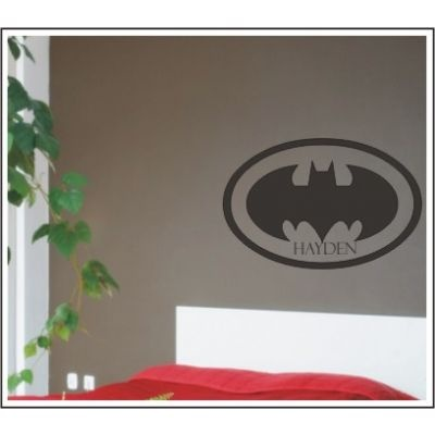Ethan really wants a Batman room - this would be cute!