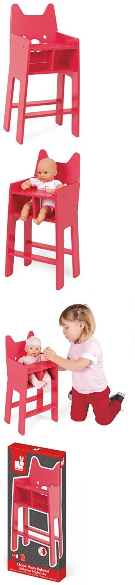Dollhouse Size 19179: Janod Babycat Pink High Chair -> BUY IT NOW ONLY: $45.69 on eBay!