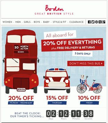 Great #British style from #Boden: 20% OFF on everything + #FREE delivery! Visit site for code!