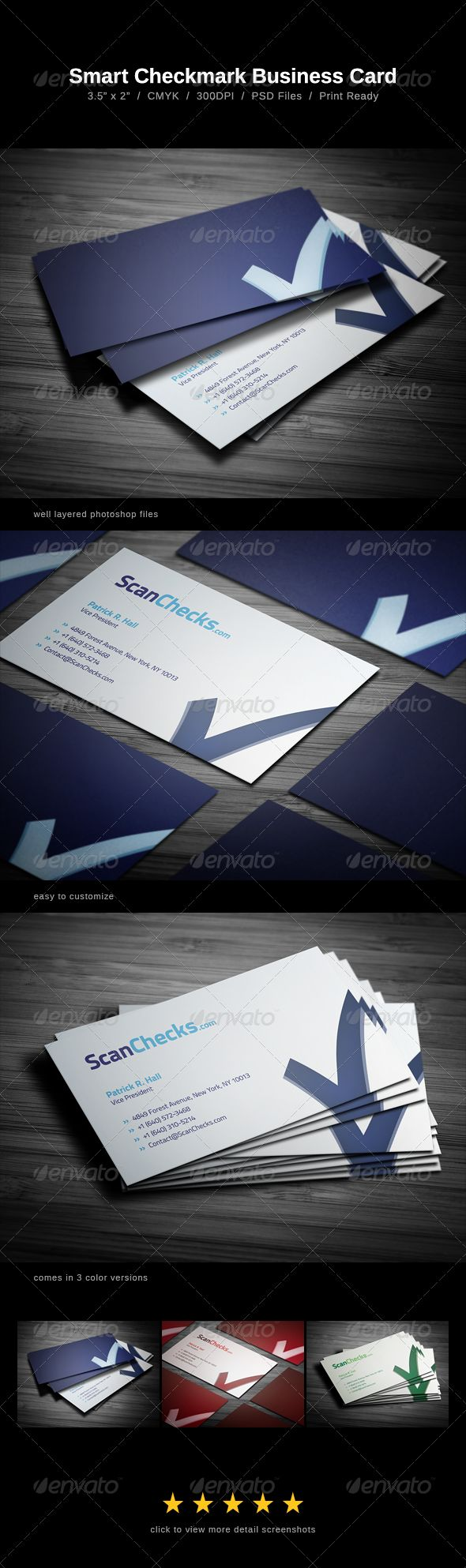 68 best business card design images on pinterest business cards smart checkmark business card alramifo Images