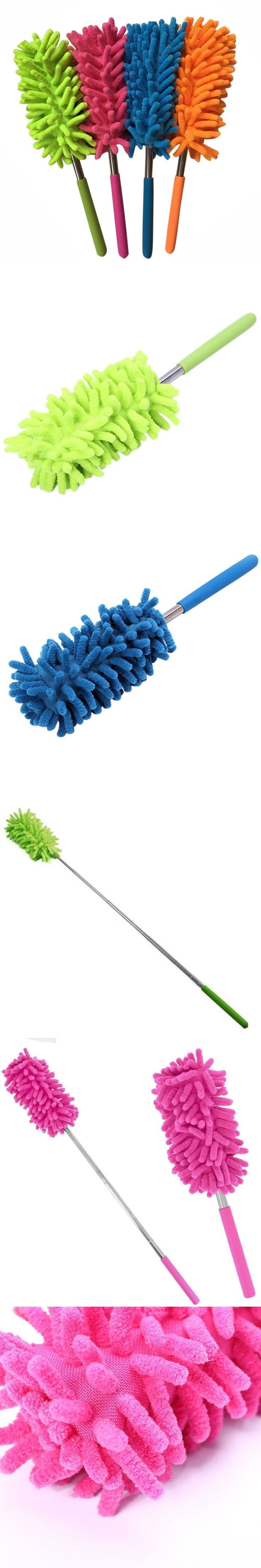 2017 Scalable Clean Duster Car Wash with Dust Brush mini stainless steel feather Dusters Brushes High Quality pincel
