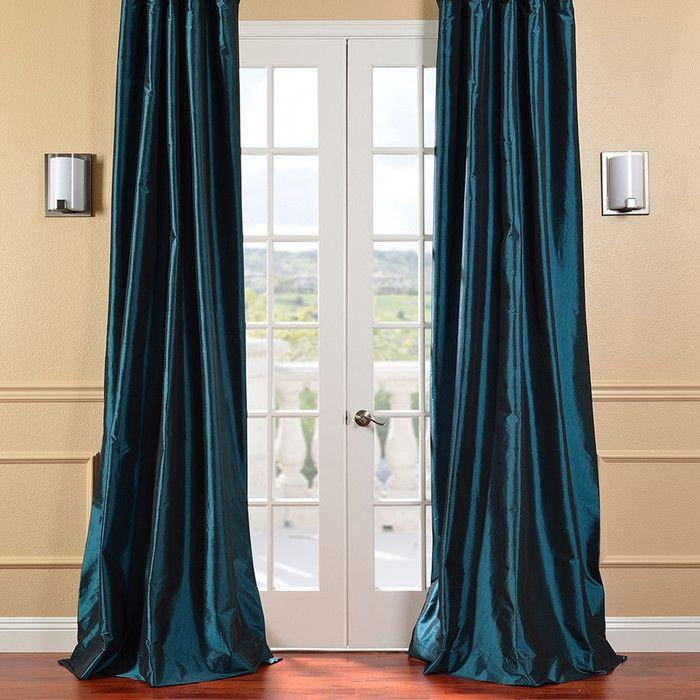 Peacock blue curtains found on Wayfair!