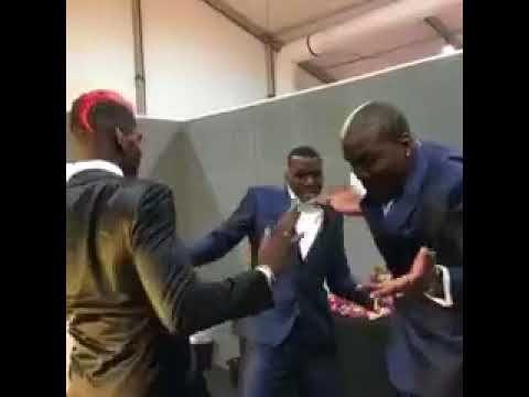 paul pogba dancing to african tune