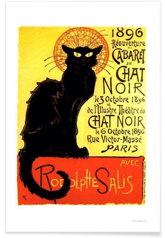 Chat Noir - Vintage Art Archive - Premium Poster