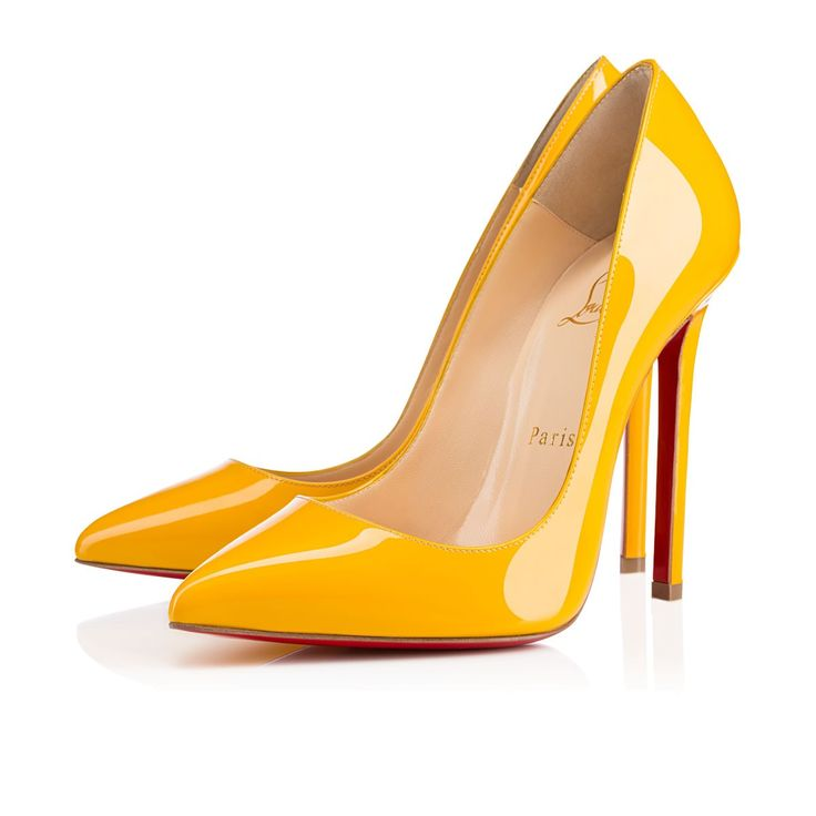 Artesur ? christian louboutin wedges Yellow patent leather round toes