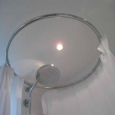 40 best small showers images on pinterest small showers for Support rideau de douche circulaire