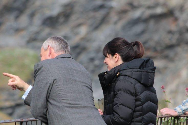 Martin Clunes Caroline Catz Filming Doc Martin Spring 2017 Season8