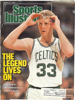 March 21 1988 Larry Bird Boston Celtics Basketball Sports Illustrated Magazine