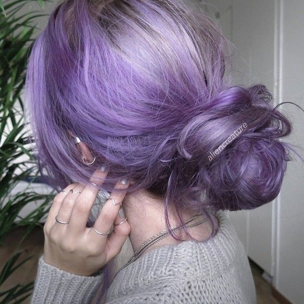 Purple lavender hair